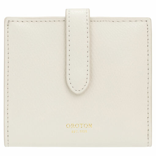 Oroton Muse 9 Credit Card Wallet in Cream and Saffiano / Smooth for female