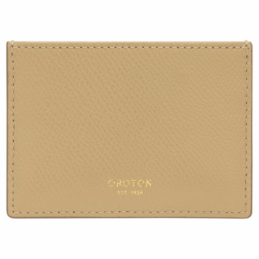 Oroton Muse 3 Credit Card Sleeve in Cinnamon and Saffiano / Smooth for female