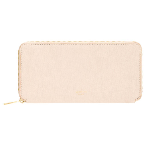 Oroton Maple Slim Book Wallet in Bone and Pebble Leather for female
