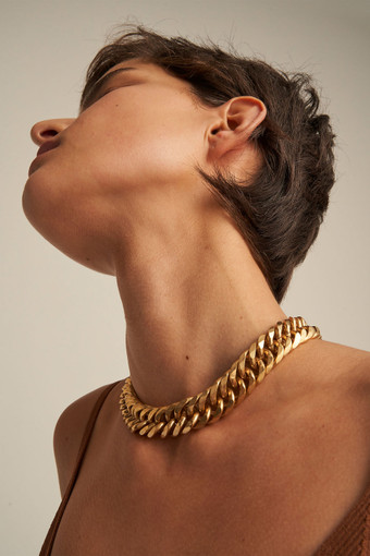 Oroton Mika Necklace in Worn Gold and Brass Base Metal With Worn Gold Finished for female