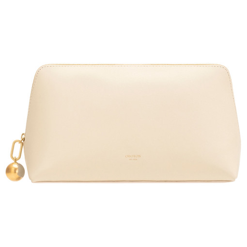 Oroton Willow Large Case in French Vanilla and Smooth Leather for female