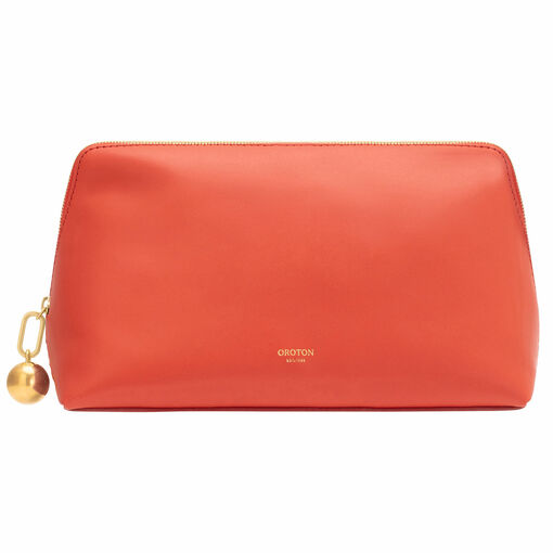 Oroton Willow Large Case in Poppy and Smooth Leather for female