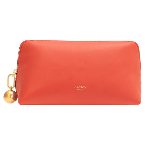 Oroton Willow Medium Case in Poppy and Smooth Leather for female