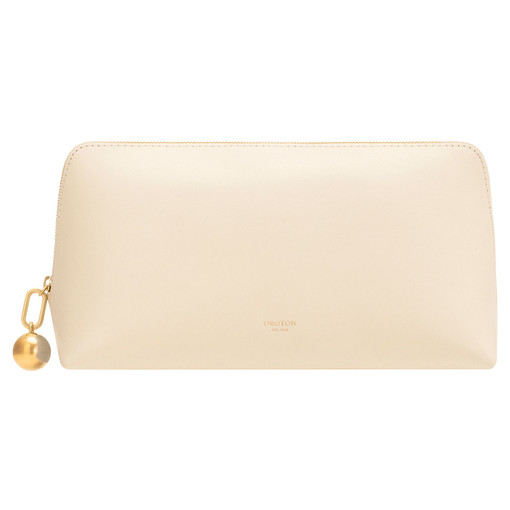 Oroton Willow Medium Case in French Vanilla and Smooth Leather for female