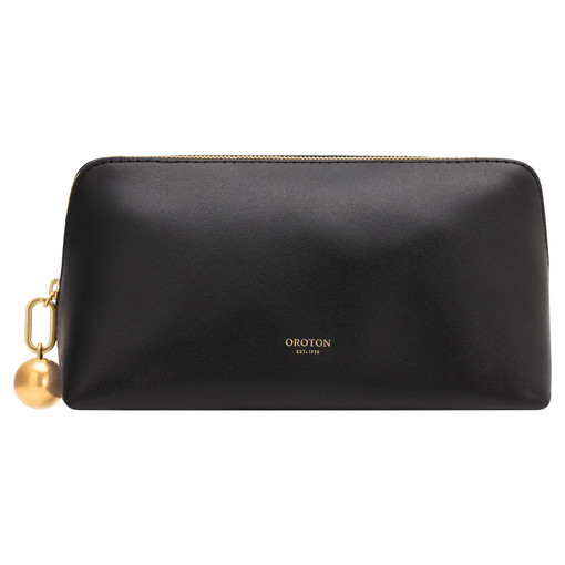 Oroton Willow Medium Case in Black and Smooth Leather for female