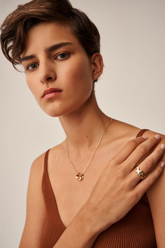 Oroton Quai Ring in Gold and Brass Base Metal With Precious Metal Plating for female
