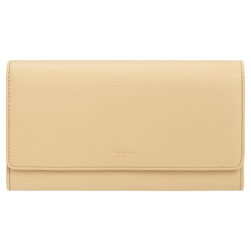 Oroton Duo Wallet and Pouch in Blonde and Pebble Leather for female