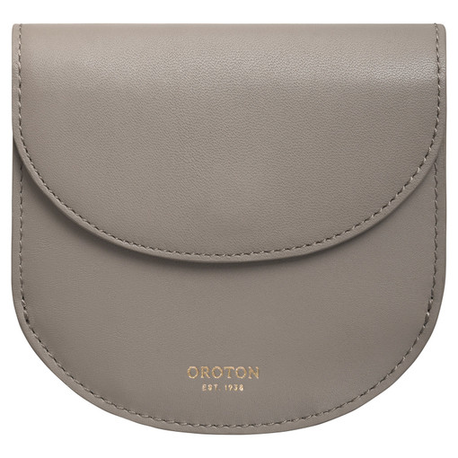 Oroton Venture Crescent Wallet in Stone and Smooth Leather for female