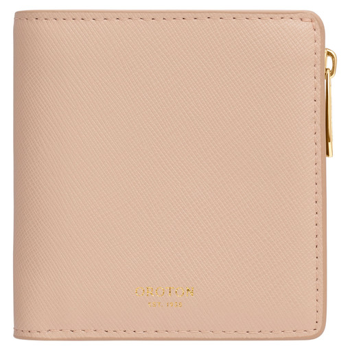 Oroton Harriet Mini Wallet in Praline and Saffiano Leather for female