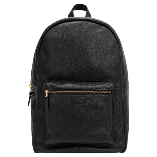 """Oroton Lucas 15"""" Backpack in Black and Pebble Leather for male"""