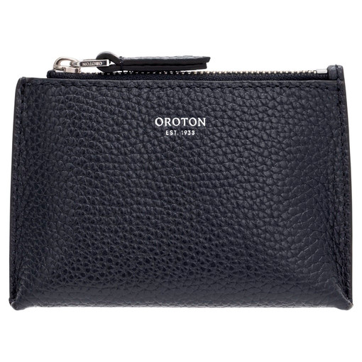 Oroton Anna Coin Pouch in Denim Blue and Pebble Leather for female