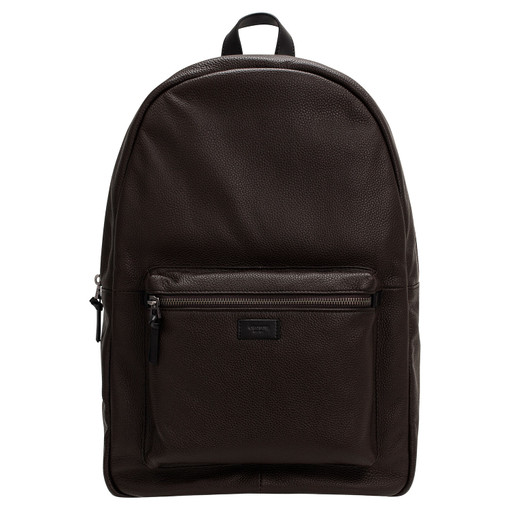 """Oroton Lucas 15"""" Backpack in Bitter Chocolate/Black and Pebble Leather for male"""