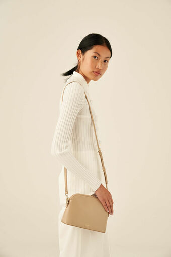 Oroton Inez Slim Crossbody in Fawn and Smooth Saffiano for female