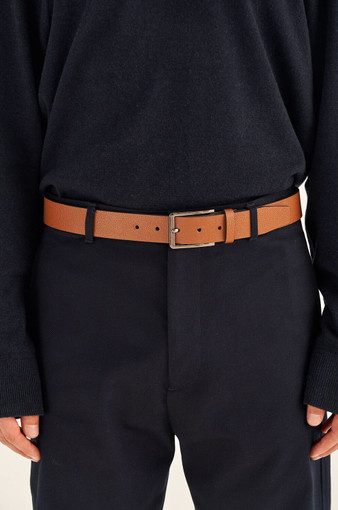 Oroton Harry Pebble Belt in Cognac and Pebble Leather for male
