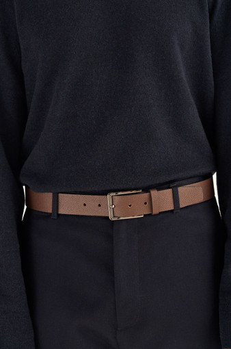 Oroton Harry Pebble Belt in Cedar and Pebble Leather for male