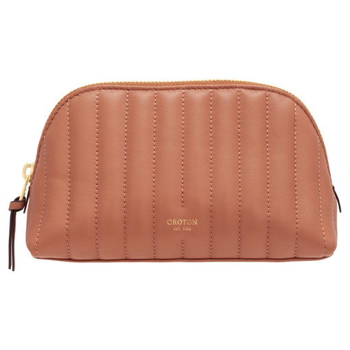 Oroton Fay Make Up Pouch in Terracotta and Smooth Leather for female