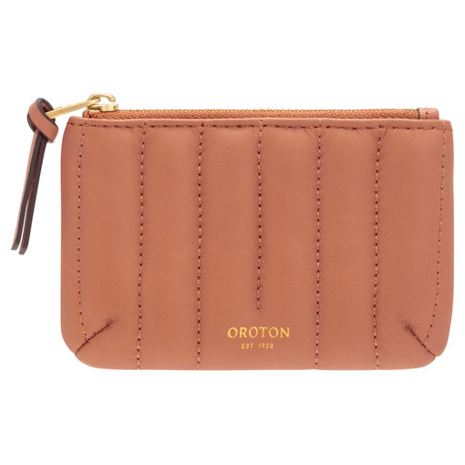 Oroton Fay Small Pouch in Terracotta and Smooth Leather for female