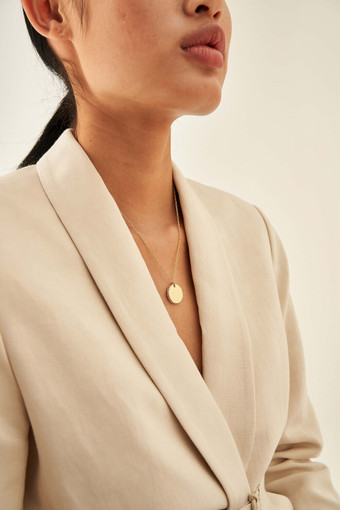 Oroton Lucy Round Pendant Necklace in Gold and null for female