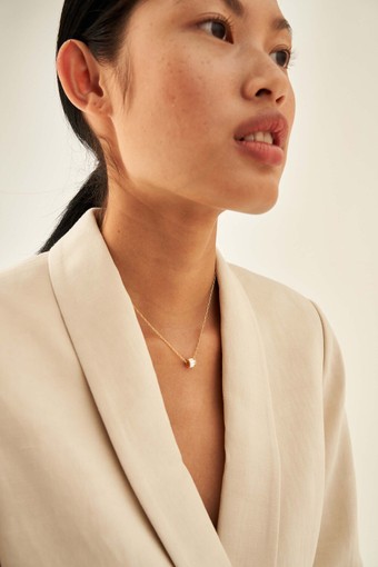 Oroton Phoebe Necklace in Gold/Clear Crystal and null for female