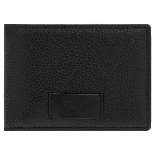 Oroton Lucas 4 Credit Card Mini Wallet in Black and Pebble Leather for male