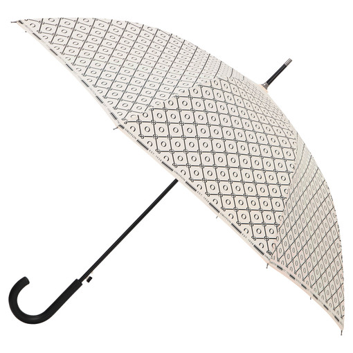 Oroton Parker Large Umbrella in Cream/Black and Printed Polyester for female