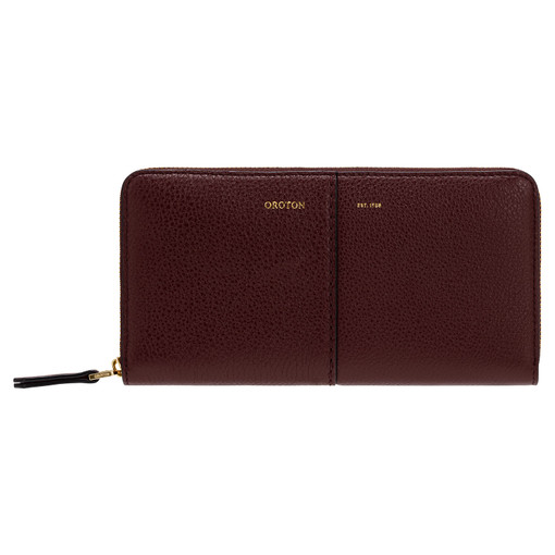 Oroton Tessa Book Wallet in Bordeaux and Pebble Leather for female