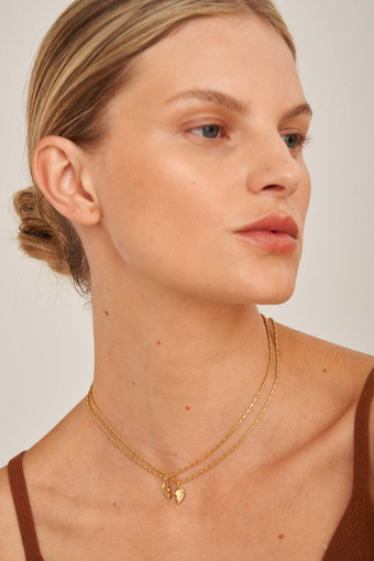 Oroton Anna Heart Necklace Set in Gold and null for female