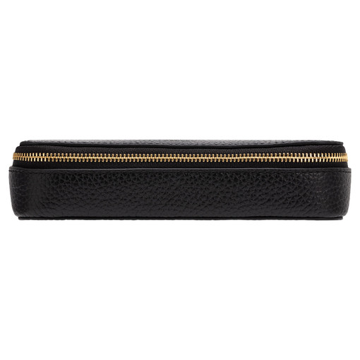 Oroton Anna Beauty Case And Pouch in Black and Pebble Leather for female