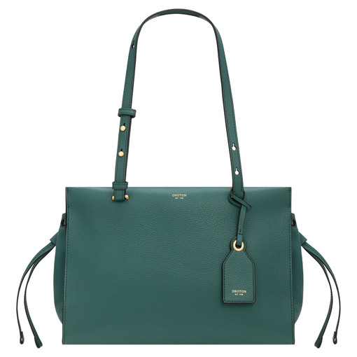 Oroton Sadie Medium Day Bag in Vintage Green and Pebble Leather for female