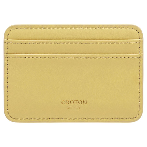 Oroton Celia Card Holder in Butter and Smooth Leather for female