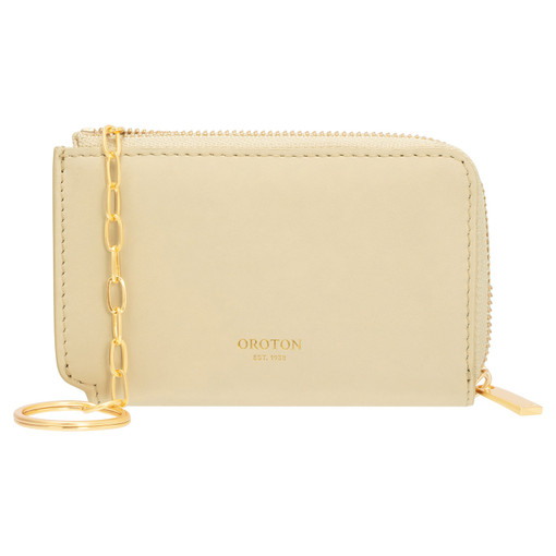 Oroton Charlie Key Holder in Pale Blonde and Smooth Leather for female