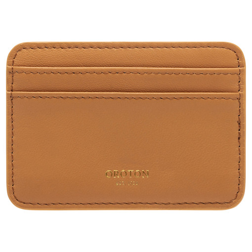 Oroton Celia Card Holder in Turmeric and Smooth Leather for female