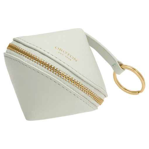 Oroton Charlie Diamond Keyring in Pale Topaz and Smooth Leather for female