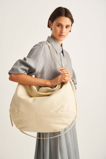 Oroton Brodie Large Soft Hobo in French Vanilla and Smooth Leather for female
