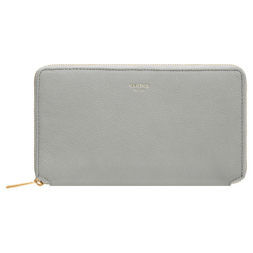 Oroton Alva Book Wallet in Greystone and Pebble Leather for female