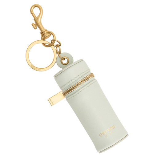 Oroton Charlie Lipstick Keyring in Pale Topaz and Smooth Leather for female