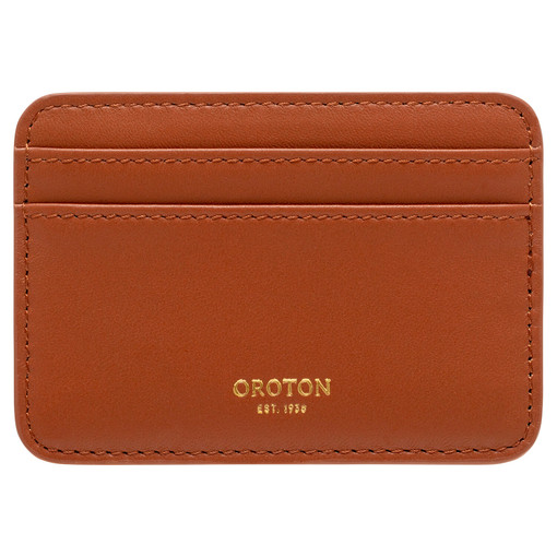Oroton Celia Card Holder in Brandy and Smooth Leather for female