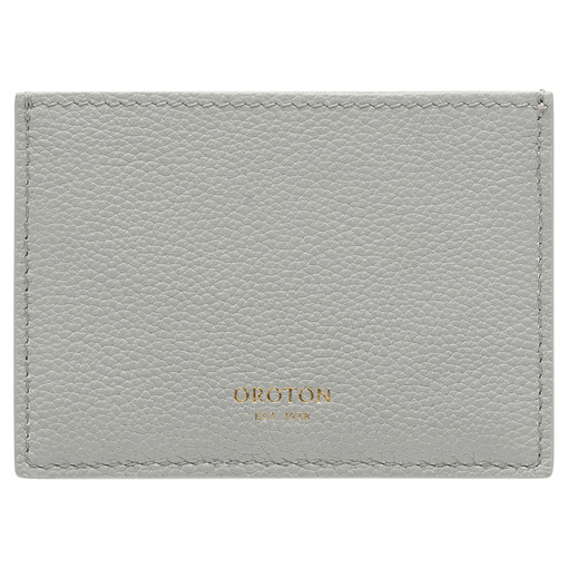 Oroton Alva 3 Credit Card Sleeve in Greystone and Pebble Leather for female
