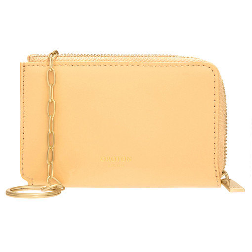 Oroton Charlie Key Holder in Mango and Smooth Leather for female