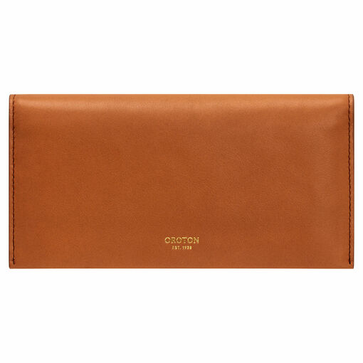 Oroton Brodie Medium Fold Wallet in Brandy and Smooth Leather for female