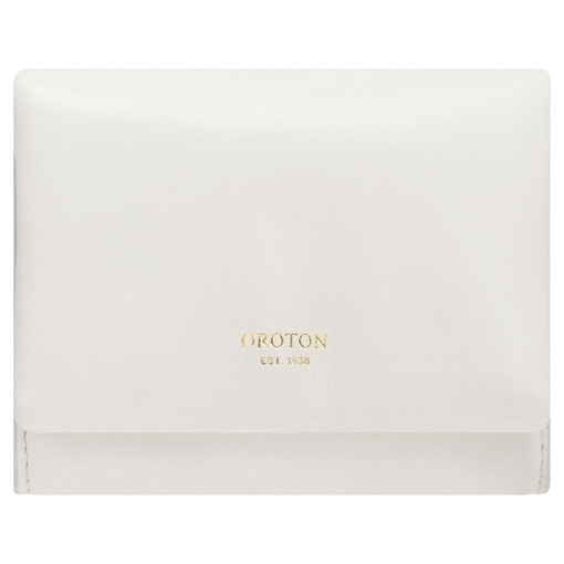 Oroton Heath Small Wallet in Clotted Cream and Smooth Leather for female