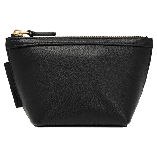 Oroton Sophia Small Beauty Case in Black and Pebble Leather for female