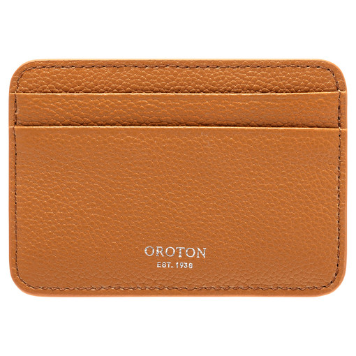 Oroton Tilda Card Holder in Maple and Pebble Leather for female