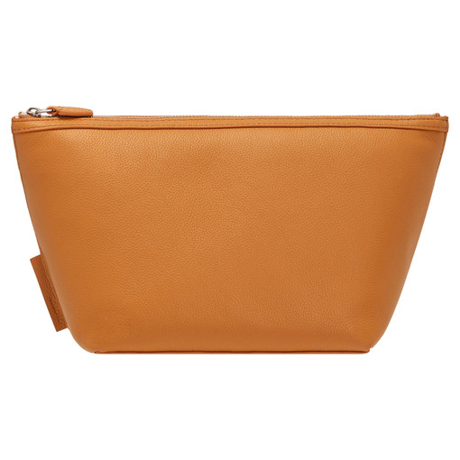 Oroton Sophia Large Beauty Case in Maple and Pebble Leather for female