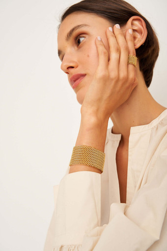 Oroton Genevieve Ring in Worn Gold and Brass Base Metal With Precious Metal Plating for female