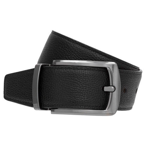 Oroton Lucas Pebble Reversible Belt in Black/Bitter Chocolate and Pebble Leather for male