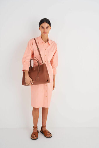Oroton Margot Large Day Bag in Whiskey and Pebble Leather for female