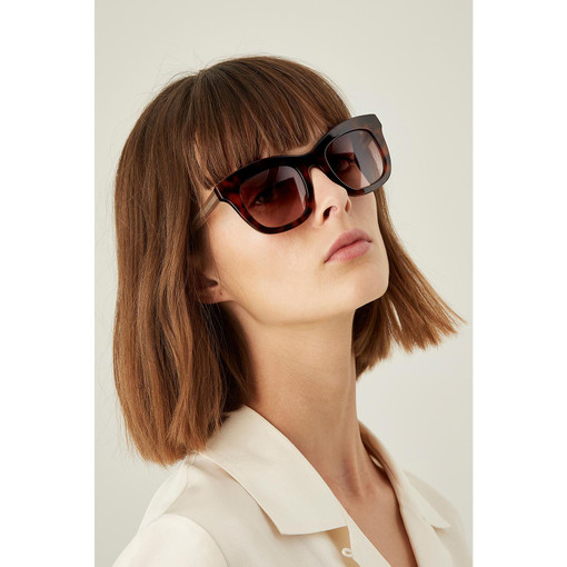 Oroton Isabelle Sunglasses in Tort/Brown and Protection: 2 for female
