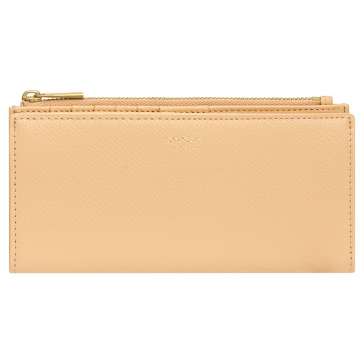 Oroton Muse Slim Zip Wallet in Mango and Saffiano / Smooth Leather for female