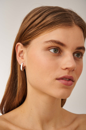 Oroton Blakely Hoops in Silver and Brass Based Metal With Precious Metal Plating for female